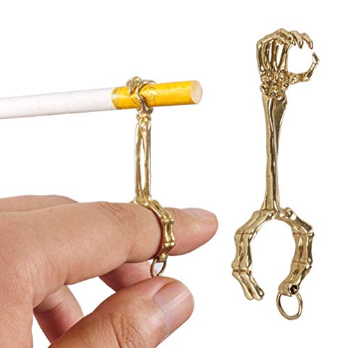 Ububiko Fumador De Anillo De Fuma, Metal Anillo para Cigarrillos, Anillo Elegante Grueso del Tenedor del Cigarrillo del Humo para Los Hombres Y Las Mujeres