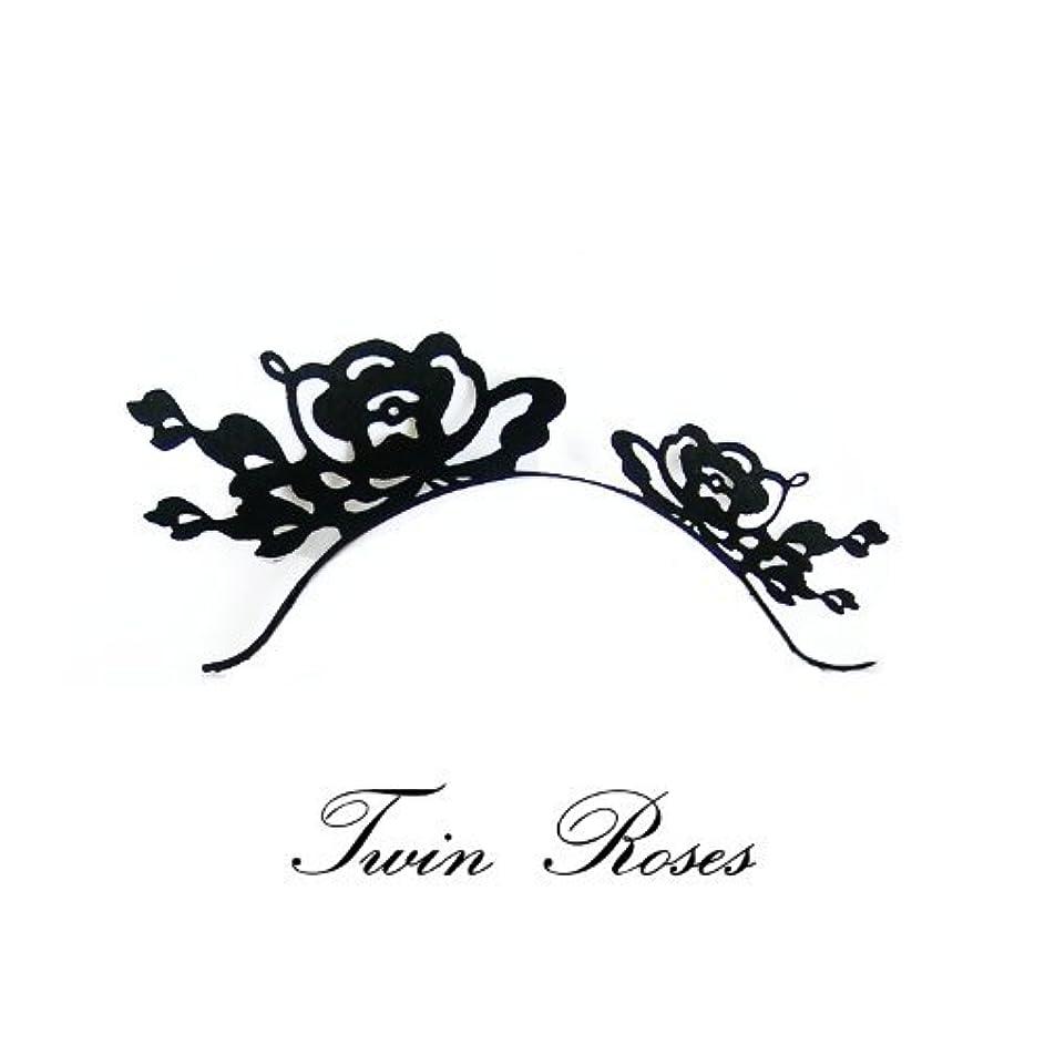 昇進香ばしい援助つけまつ毛 ペーパーアイラッシュ パーティーやイベントにおすすめ 商品名:ツインローズ(薔薇)