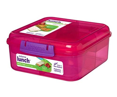 Sistema Brotdose Lunchbox Lunch Bento Cube 1250 ml (Pink)