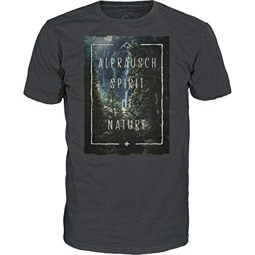 Alprausch Herren Spirit of Nature T-Shirt, Dark Shadow, M
