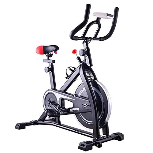 Spinning Bike Bicicleta Estática para Gimnasio En Casa, Bicicleta De Ciclismo Estacionaria para Interiores con Monitor Digital, Bicicleta De Spinning Aeróbica