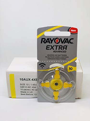Rayovac Extra Advanced Batterie Acustiche Zinco Aria, Formato 10 Value Pack da 40 Batterie, Giallo (40 batterie, giallo)
