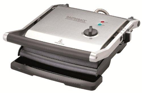 Gastroback 42514 Health Smart Grill PRO Kontaktgrill, Aluminium, Mehrfarbig