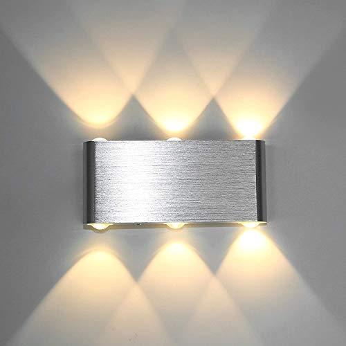 SISVIV 6W Apliques de Pared Led Lámpara de Pared Interior Moderno Puro Aluminio Para Dormitorio Escalera Salón Pasillo KTV...