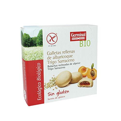 GERMINAL Galletas de trigo sarraceno rellenas de albaricoque bio sin g