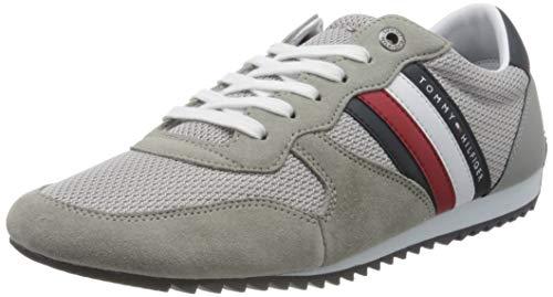 Tommy Hilfiger Herren Essential MESH Runner Sneaker, Grau (Antique Silver PRT), 43 EU