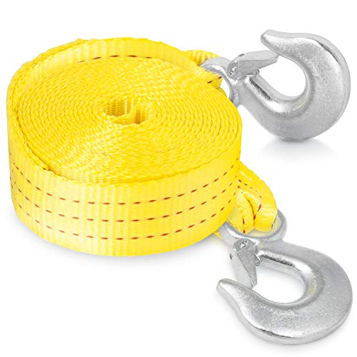 Neiko 51005A Heavy Duty Tow Strap with Safety Hooks |
