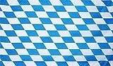 flaggenmeer® Flagge Bayern kleine Rauten 80 g/m² ca. 90 x 150 cm