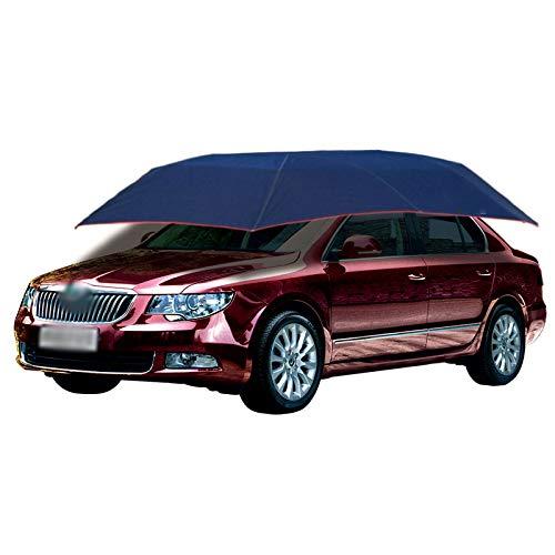 Lixiabeidai Autozelt Halbautomatische Auto Regenschirm Sonnenschirm-Abdeckung Für Sonnenschutz, Staubschutz Und UV-Schutzauto-Markisezelt, Auto-Dachzelt,Blue-4.6M