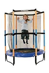 HUDORA children's trampoline Jump In with safety net - 140 cm, blue - 65596