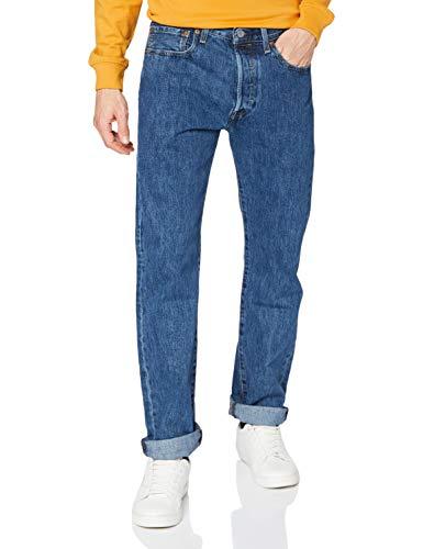 Levi\'s Herren 501 Original Jeans, Stonewash 80684, 34W / 30L