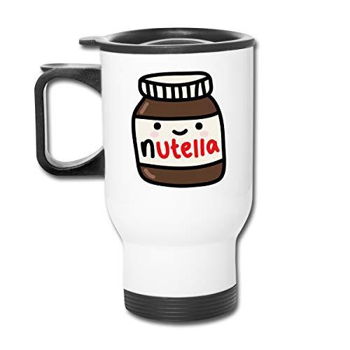 Nutella Doppelwandiger Vakuum-Kaffeebecher mit spritzsicherem Deckel für heiße und kalte Getränke