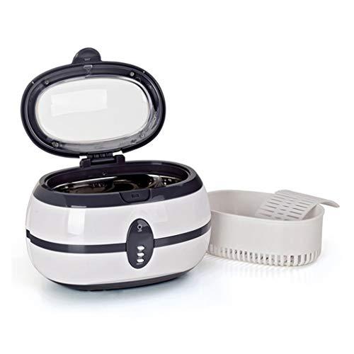 FMMXN Ultraschallreiniger Ultraschallreiniger Ultraschallgeräte Gläser Uhr Schmuck Ohrringe Ring Halskette Rasiermesser Prothesen Tattoo Werkzeug,Grau