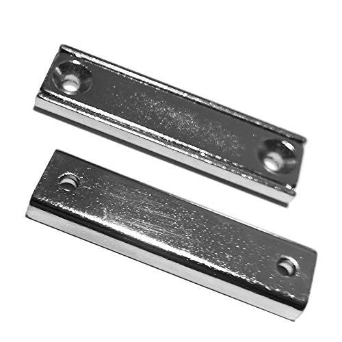 LeBigMag   2 sehr Starke Neodym Mini Magnetleisten   4 cm lang   1,35 cm breit   17 kg Haftkraft   zum anschrauben