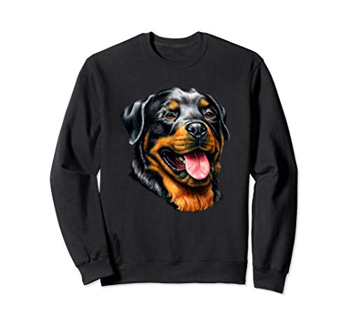 Rottweiler Vollgesichts-Portrait Sweatshirt