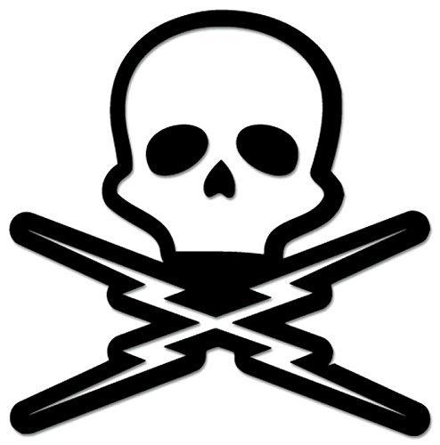 SUPERSTICKI Skull Death Proof Grindhouse - [20 inch/50 cm Tall] - Aufkleber Auto,Scheine,Lack,Motorrad,Wandtatt