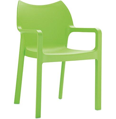 Alterego - Chaise design de terrasse 'VIVA' verte en matière plastique