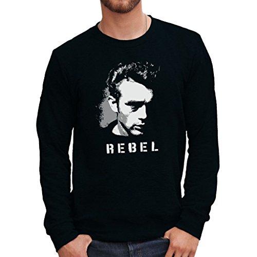 MUSH Sweatshirt James Dean Rebel - BerŸhmt by Dress Your Style - Herren-L Schwarz