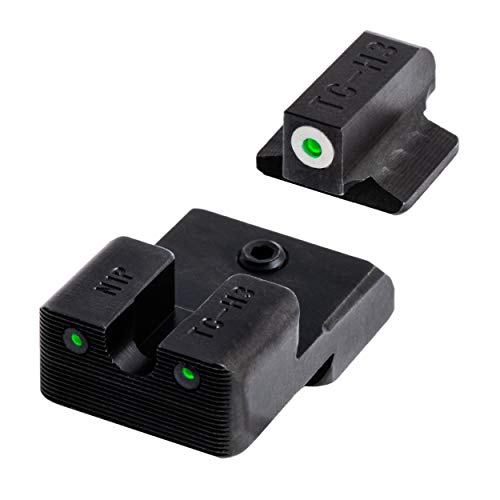 TRUGLO Tritium Pro Glow-in-the-Dark Handgun Night Sights for 1911 Pistols, 260 Front / 450 Rear