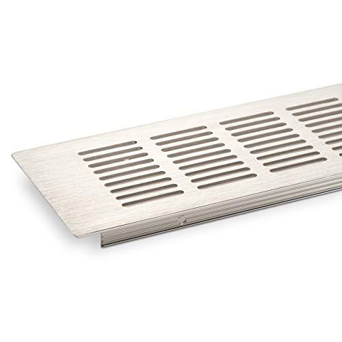 Rejilla de ventilación rejilla 500 x 80 mm chapa perforada barra mira la hoja de acero inoxidable