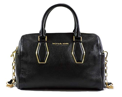 """12-3/4"""" W x 9"""" H x 5-1/2"""" D Silhouette is based off 5'9"""" model Exterior features gold-tone hardware, zip details and signature lettering Interior features 1 zip pocket, 3 open pockets, 1 cell phone pocket and 1 key fob Double shoulder straps with 9"""" ..."""