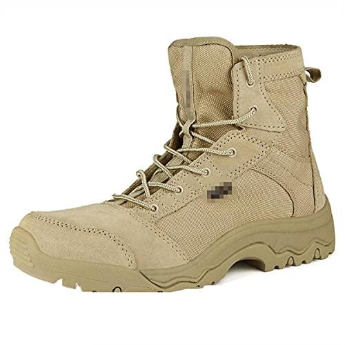 Botas Militares de Invierno de los Hombres Calientes Y Impermeable Camuflaje Cuero Desierto Botas de Combate Zapatos