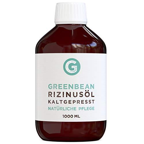 Rizinusöl kaltgepresst (1000ml) in einer Glasflasche von greenbean