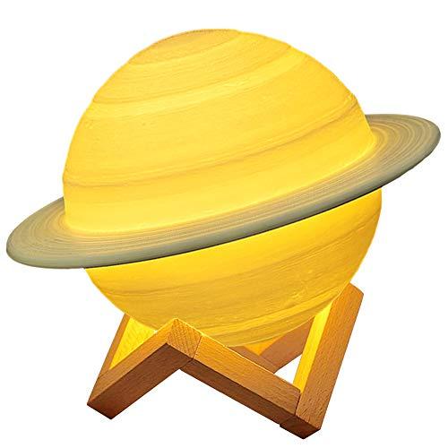 Aiboria 3D Moon Lamp 16 Farben 4 Modi Dimmbares LED Globe Kinderzimmerlicht, USB-Aufladung, mit Touch und Fernbedienung, perfektes Stimmungslicht für Raumdekoration (22 cm / 8,6 Zoll)