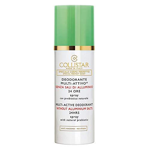 Collistar Deodorante Multi-Attivo Senza Sali Di Alluminio 24 Ore, Spray con prebiotico naturale delicatamente profumato, Senza sali di alluminio e gas, Adatto alle pelli delicate, 100 ml