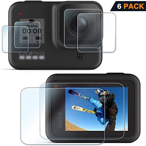 micros2u HD Display- und Objektivschutzfolie für GoPro Hero8 Black. 4 x Ultra Clear 9h Hartglas Displayschutzfolien + 2 x Display HD (PET) Schutzfolien Objektivzubehör