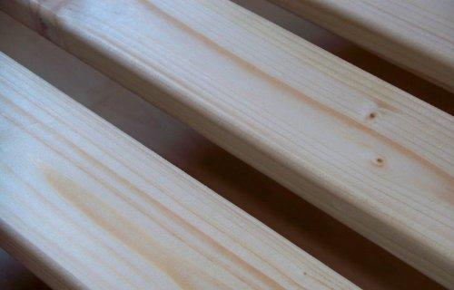 TUGA - Holztech 20mm Rollrost Rolllattenrost 180x200cm bis 200KG Qualitätsarbeit aus Deutschland unbehandelt frei von Chemie Naturprodukt