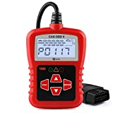 KZYEE KC11 OBD2 Scanner, Classical OBDII Automotive Code Reader Diagnostic Scan Tool with LCD Display for 12V Vehicles Turn Off MIL