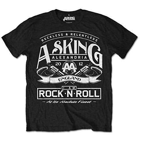 Asking Alexandria Herren T-Shirt RocknRoll, Schwarz (Black), M