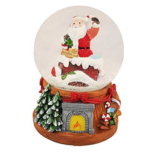 Lightahead Santa Snow Globe with Music, Multi