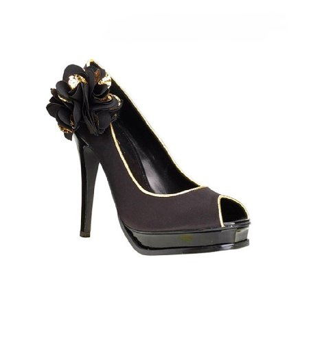 APART Damen-Schuhe Peeptoe-Pumps Mehrfarbig Größe 37