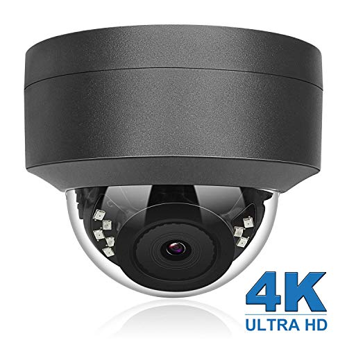 Anpviz 8MP HD IP-Überwachungskamera, 4K H.265 IP POE-Kamera mit Weitwinkel 2,8 mm, Nachtsicht 98 Fuß, IP66 Wetterfeste Indoor Outdoor Onvif-konform, Nachtsicht-Bewegungserkennung