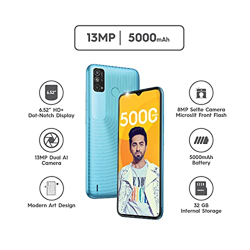 "Tecno Spark Go 2021 (Maldives Blue, 2GB RAM, 32GB Storage) | 5000mAh| 6.52"" Display Smartphone 2"
