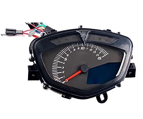 SFUO Tacómetro de Motocicleta Tacómetro Digital ODómetro Velocímetro Medidor de medidores Moto...