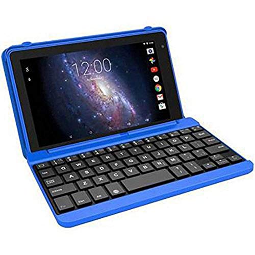 RCA Voyager 7 Inch 16GB Tablet with Keyboard Case and Android OS, Blue (Renewed)