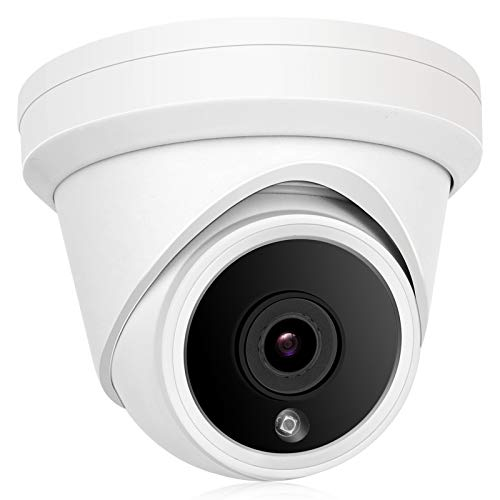 Anpviz 5MP IP PoE Dome Security Camera with Microphone,Turret Camera Outdoor ONVIF Camera IP66 Weatherproof Metal, Night Vision 98ft,Motion Detection Wide Angle 2.8mm