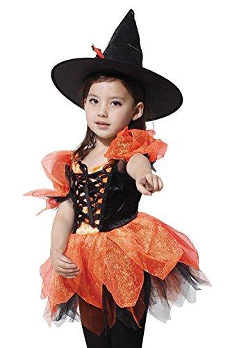 Gift Tower Disfraz de bruja para nios, disfraz de carnaval, disfraz de bruja (XL)