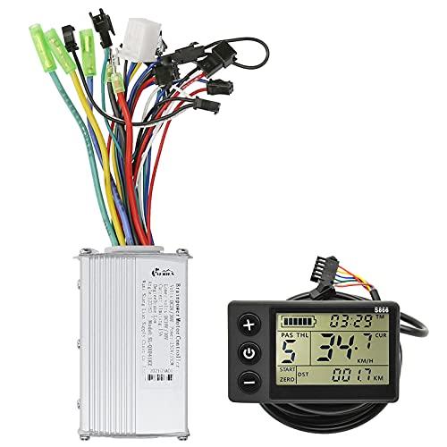 Voupuoda Panel de Pantalla LCD Kit de Controlador sin escobillas para Bicicleta eléctrica Scooter eléctrico