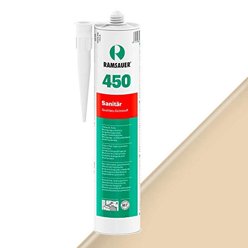 Ramsauer 450 Sanitär 1K Silikon Dichtstoff 310ml Kartusche (Eiche)