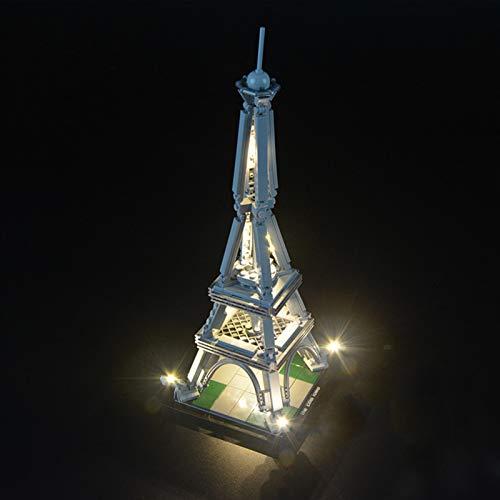 iCUANUTY Set di Luci per Lego Architecture Torre Eiffel, Kit Luce LED Compatibile con Lego 21019 (Non Include Il Modello Lego)