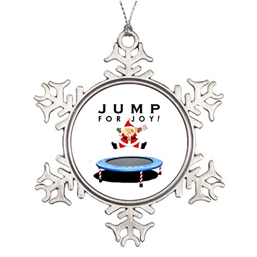 VinMea Xmas Snowflake Ornaments Personalized Gymnastics Trampoline Metal Christmas Ornaments Ideas for Decorating Christmas Trees