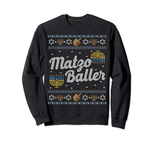 Funny Ugly Hanukkah Sweater Matzo Baller Matzah Sweatshirt