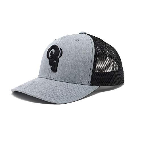 RAM ADVANTAGE Trucker Hat | Mesh Two Tone Snapback Cap Premium Quality Durable Comfortable Fit Grey/Black
