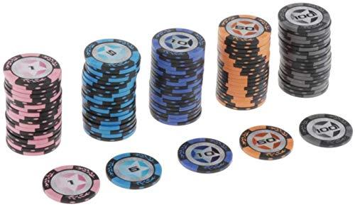 100pcs Chips de Trigo Clay Poker Chips Casino Token para Texas Holdem, Blackjack, Juegos de Juego