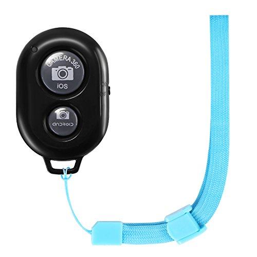 Neewer Telecomando Wireless Bluetooth per Cellulari Rilascio di Otturatore con Cinturino da Polso Blu,per Dispositivi Mobili iPhone Android come iPhone iPad Samsung LG Huawei e Così Via