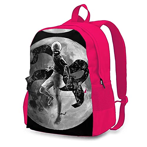 Tokyo Ghoul Adult Backpack Unisex Casual Backpacks Travel School Climbing Game Cartoon Printing Pink
